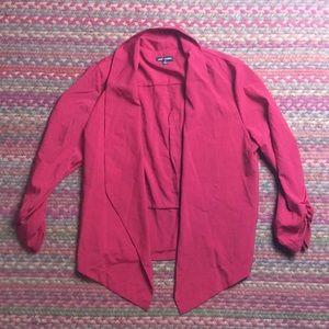 RED BLAZER DRESSY WORK CARDIGAN